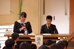 IMGP2015 議長 高3 上村 彩夏さん 中3-2畠野 龍斗くん
