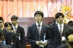 前生徒会長大山 五十和くんによる卒業生答辞