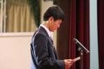 新入生の渡邊文弥くんによる誓いのことば並びに感謝のことば