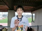 100mで銅メダルを獲得