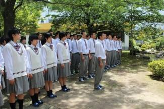 男子バレー部主将の藤田くんによる必勝宣言