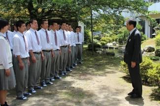 瀬戸山部長からの激励の言葉