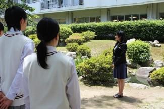 女子バレー部部長の宮田先生からの激励の言葉