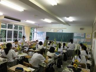みんな生け花の授業が大好きです