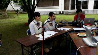 生徒会役員の二人がインタビューに答えました