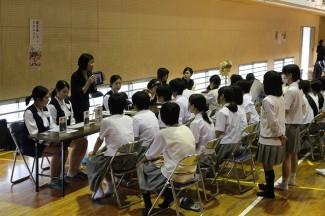 鹿児島レディスカレッジのブース