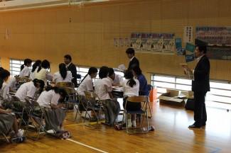 奄美看護福祉専門学校のブース