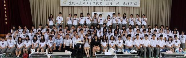 最後に全員で記念撮影 梶先生,暑い中本当にありがとうございました!