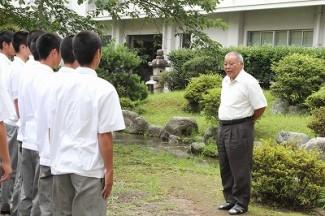鎌田対策監からの激励の言葉