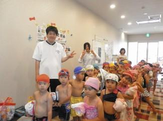 保育園の水泳教室
