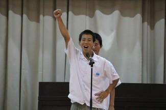 野﨑 哲太くんによる勝ち鬨の声