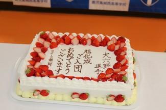 パティシエコースからのサプライズケーキ