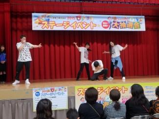 2年生と3年生によるヒューマンビートボックス&ダンス「Move Strong Beat」