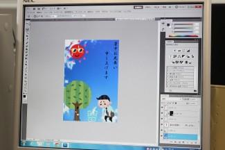 画像処理専用ソフトを使い,デザインを形にします
