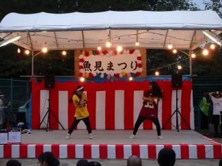 写真右の有村さんは,自分の地元でのイベント出演でした