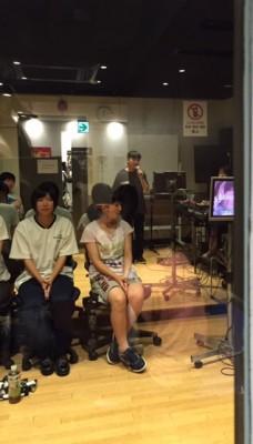 レコーディングスタジオでの練習