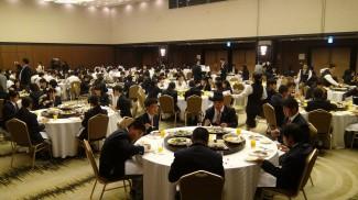 大阪のホテルでの夕食