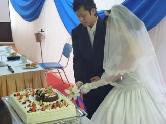 ケーキ入 刀