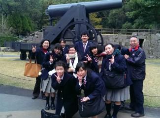 ▲ 仙巌園で記念撮影