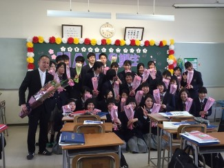 鹿児島城西高校の卒業式