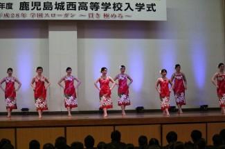 フラダンス部によるフラダンス