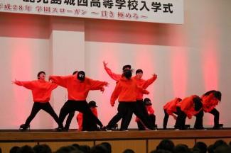 芸術文化コース2年生によるダンス