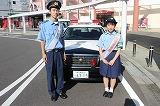 一日警察署長を務めた中津さん