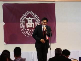 後援会会長の長田様より挨拶をいただきました