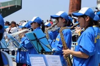 吹奏楽部の力強い演奏