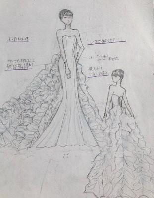 3年間の集大成のドレスです。