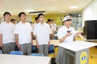 合格に向けた決意の言葉を夏迫 若菜さん(開聞中出身)が述べました。