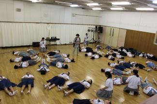 腹式呼吸の練習