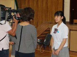 テレビ局や新聞社の取材を受けました