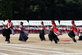 紅団の応援演舞