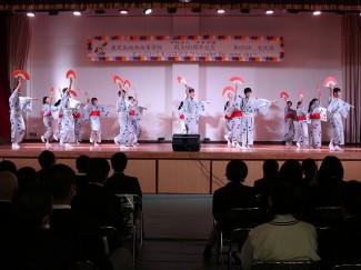 こちらは芸術文化コースによる日本舞踊