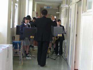 吹奏楽部による生演奏