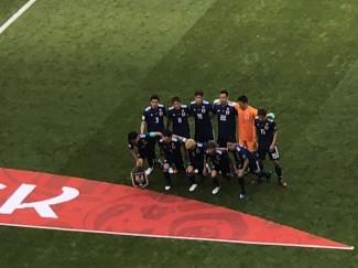試合開始時の日本チーム