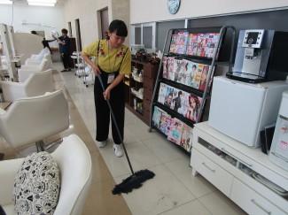 心をこめて清掃!