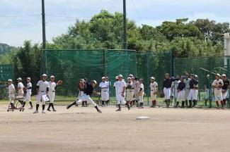 こちらは野球部の体験の様子
