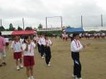 郷土舞踊(1年生女子) 伊集院音頭とおはら節を踊りました。