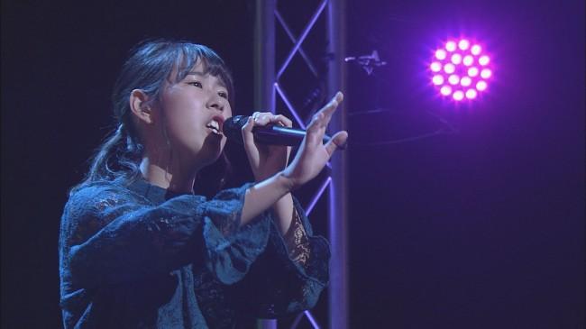 決勝大会で歌う増永さん(※写真掲載許可はいただいております。)