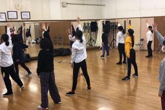 ダンスの練習の様子