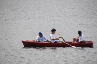 ボートに挑戦しました