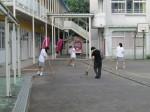 始まる前に在校生が清掃活動