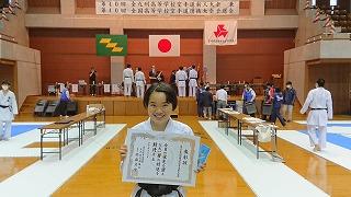 女子個人組手 -59㎏級 準優勝 東峯さん